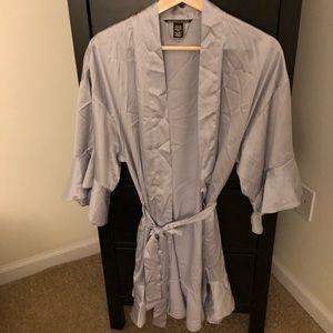 Victoria's Secret Satin Grey Robe